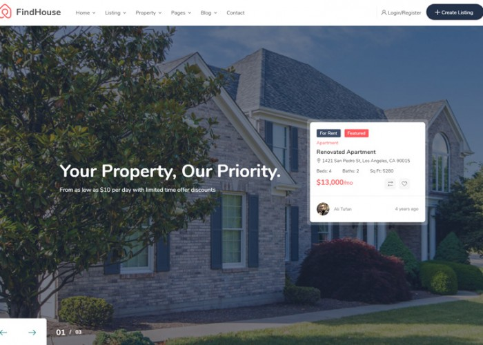 FindHouse – Premium Responsive Real Estate HTML5 Template