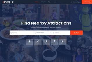 Findus – Premium Responsive Directory Listing WordPress Theme