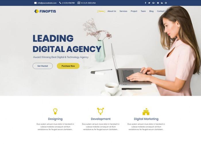 Finoptis – Premium Responsive Business Joomla Template