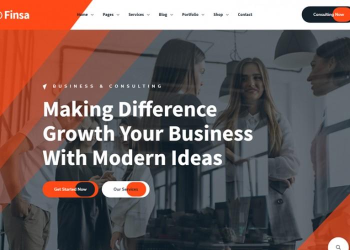Finsa – Premium Responsive Consultancy Angular 10 HTML5 Template