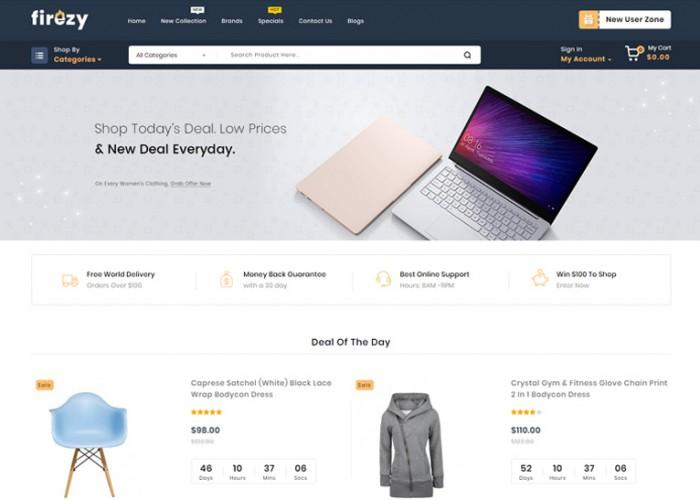 Firezy – Premium Responsive Multipurpose OpenCart 3 Theme