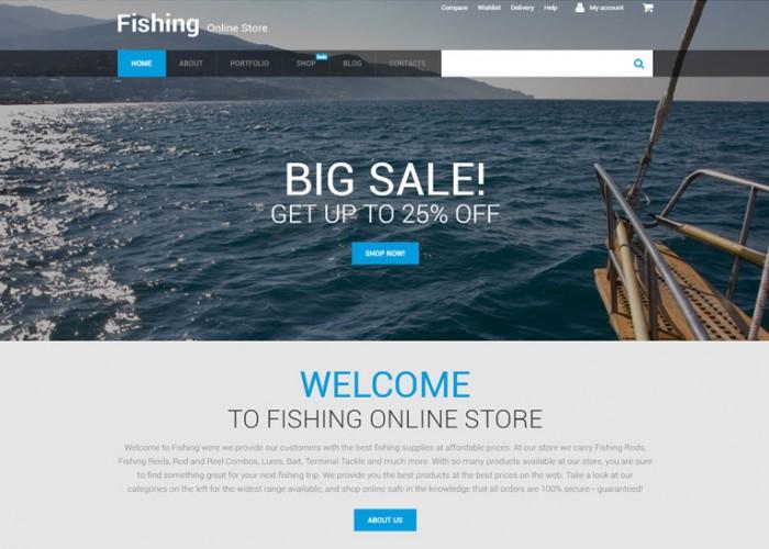 Fishing Online – Premium Responsive WooCommerce Theme