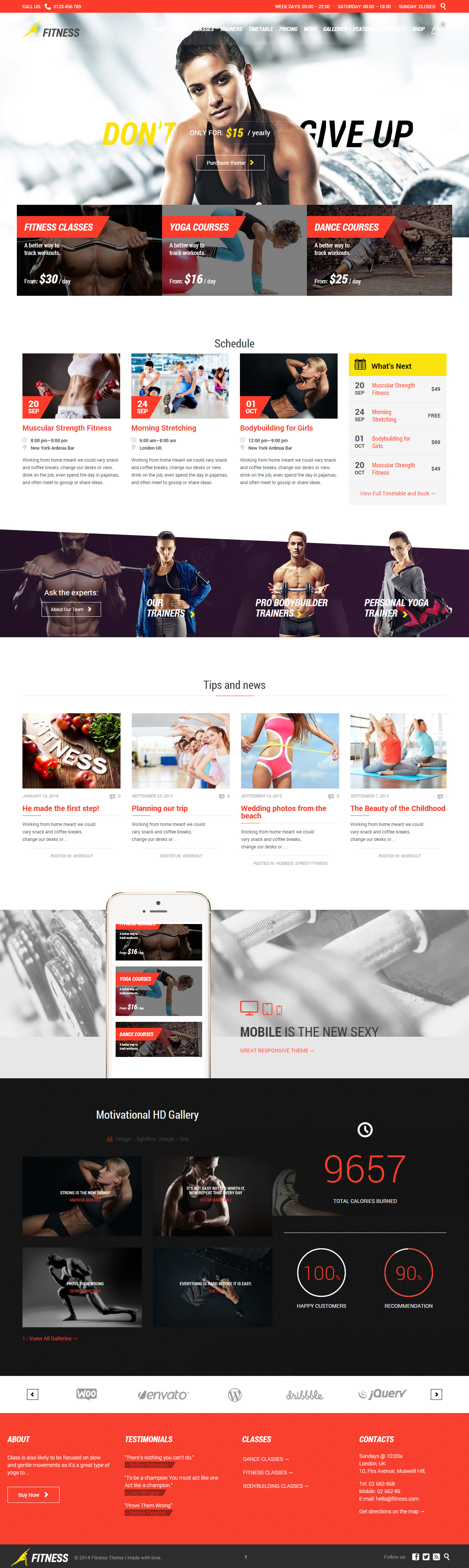 30 Best WordPress Fitness and Gym Themes in 2017 - Responsive Miracle