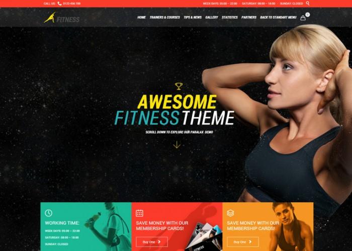Fitness – Premium Responsive Sport Gym WordPress Theme