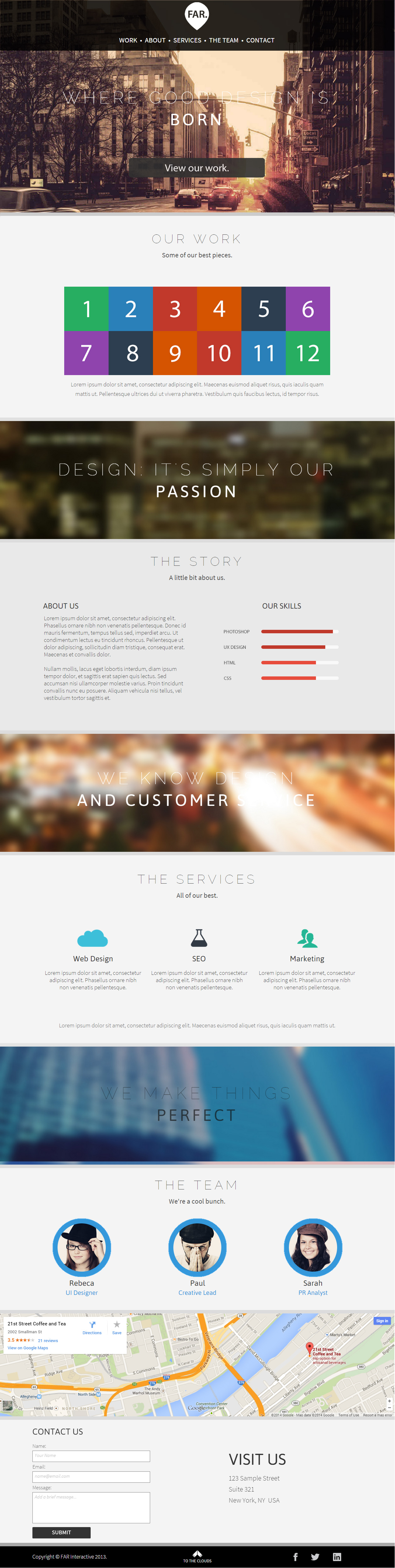 25+ Best Premium Muse Templates in 2014 - Responsive Miracle