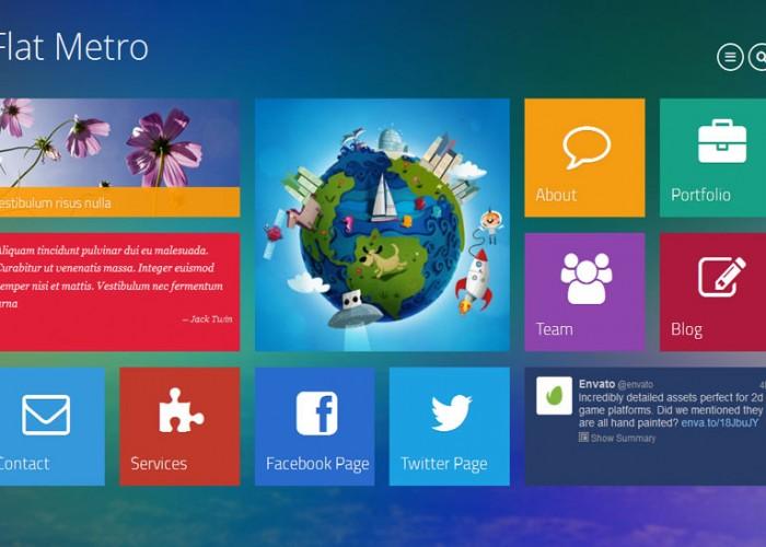 Flat Metro – Premium Responsive Multipurpose Drupal Theme