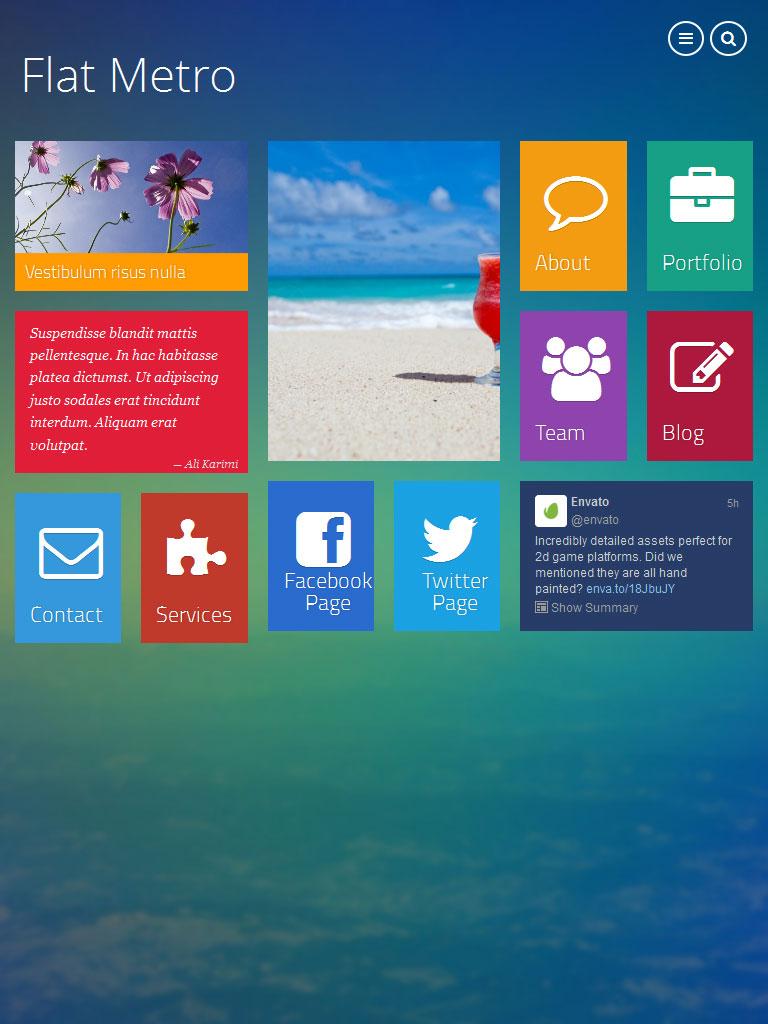 WP Metro Free Responsive Wordpress Theme