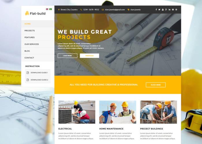 Flatbuild – Premium Responsive Construction Joomla Template