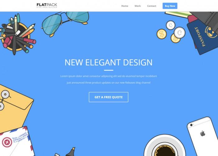 Flatpack – Premium Responsive Landing Page HTML5 Template