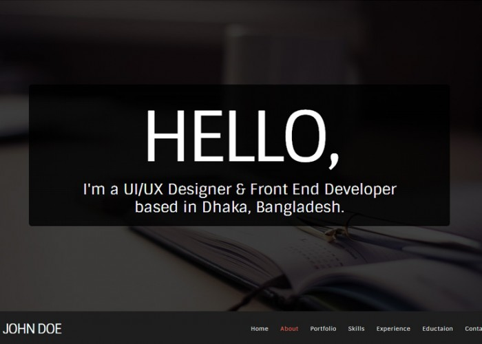 FlatX – Premium Responsive One Page Parallax Resume HTML5 Template