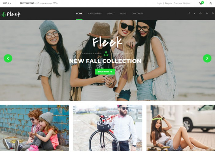 Fleek – Premium Responsive Fashion Store WooCommerce WordPress Theme