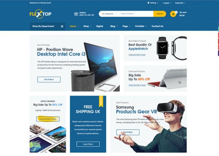 Flextop – Premium Responsive WooCommerce Digital WordPress Theme