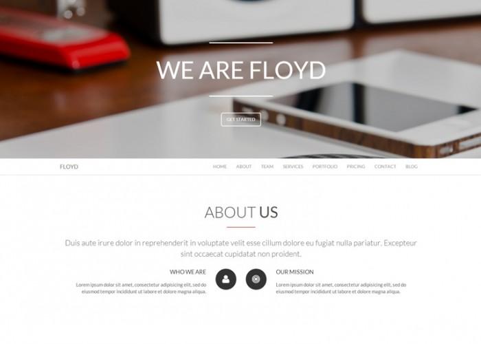 Floyd – Premium Responsive One Page Parallax Joomla Template