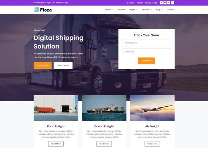 Floza – Premium Responsive Angular 10 Transport HTML5 Template