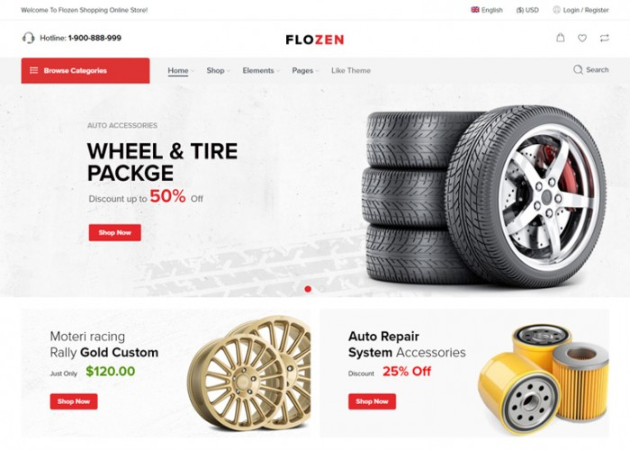 Flozen – Premium Responsive WooCommerce AJAX WordPress Theme