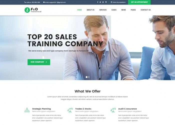 F&O – Premium Responsive Consultant Finance HTML5 Templates