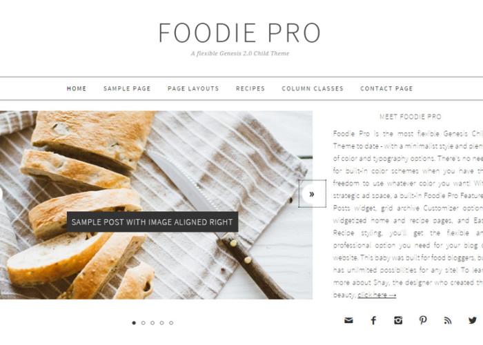 Foodie Pro – Premium Responsive Food Blog WordPress Theme