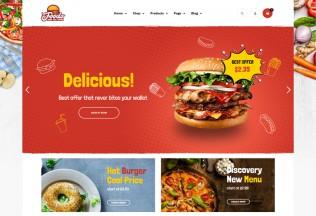 Foodo – Premium Responsive Fast Food Restaurant WordPress Theme