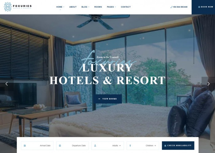 Foxuries – Premium Responsive Resort & Hotel WordPress Theme
