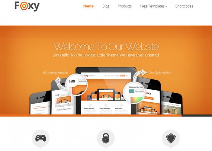 Foxy – WordPress Premium Responsive Theme