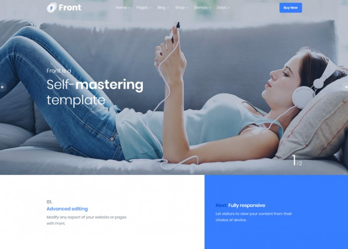 Front – Premium Responsive Multipurpose Business WordPress Theme