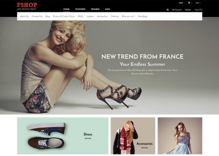 Fshop – Premium Responsive Fashion Store Magento 2 Theme