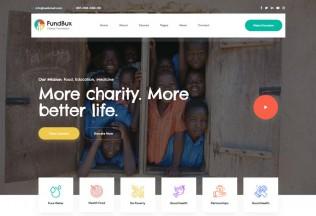 FundBux – Premium Responsive Charity & Fundraise HTML5 Template