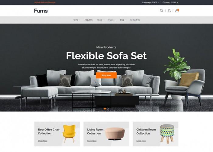 Furns – Premium Responsive Furniture eCommerce HTML5 Template