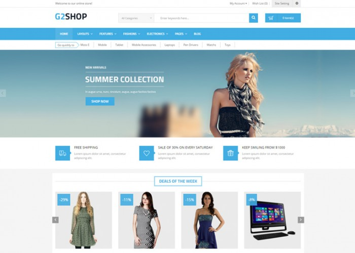 G2shop – Premium Responsive Digital eCommerce OpenCart Theme