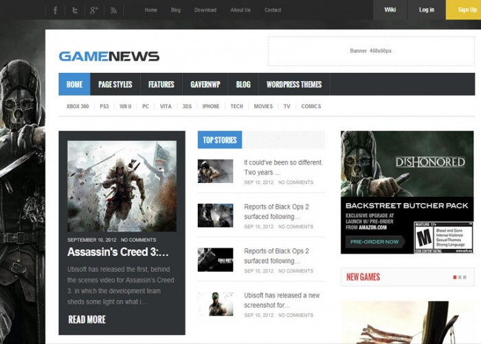 Game News – Premium Responsive Game portal WordPress Theme