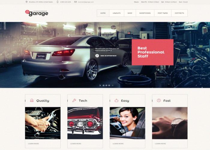 Garage – Premium Responsive Auto Mechanic & Car Repair Workshop WordPress Theme