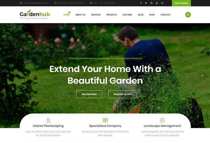 Garden HUB - Premium Responsive Gardening HTML Template