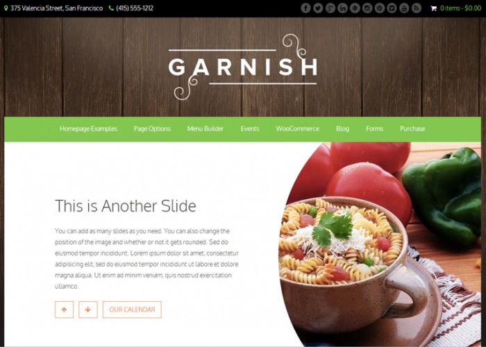 Garnish – Premium Responsive Restaurants WordPress Theme