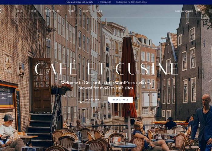 Gaspard – Premium Responsive Restaurant WordPress Theme