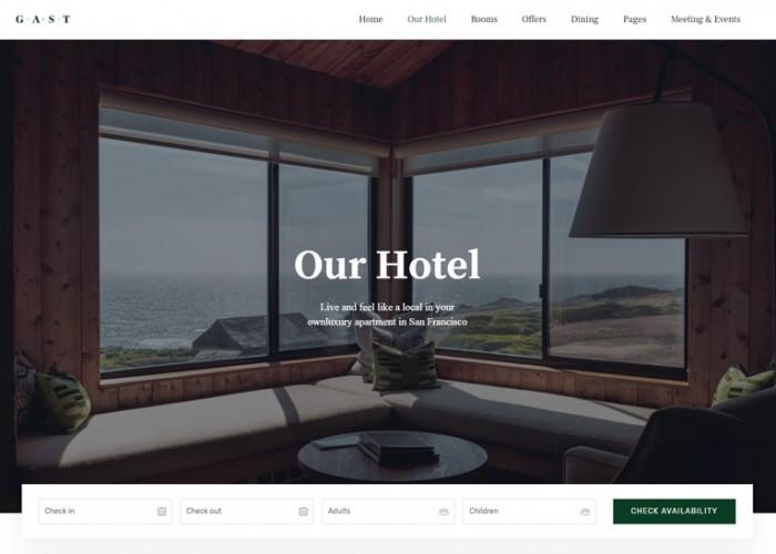 Gast – Premium Responsive Hotel WordPress Theme