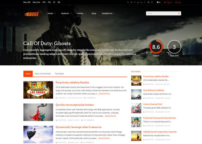 Gauge – Premium Responsive Ultimate Review WordPress Theme