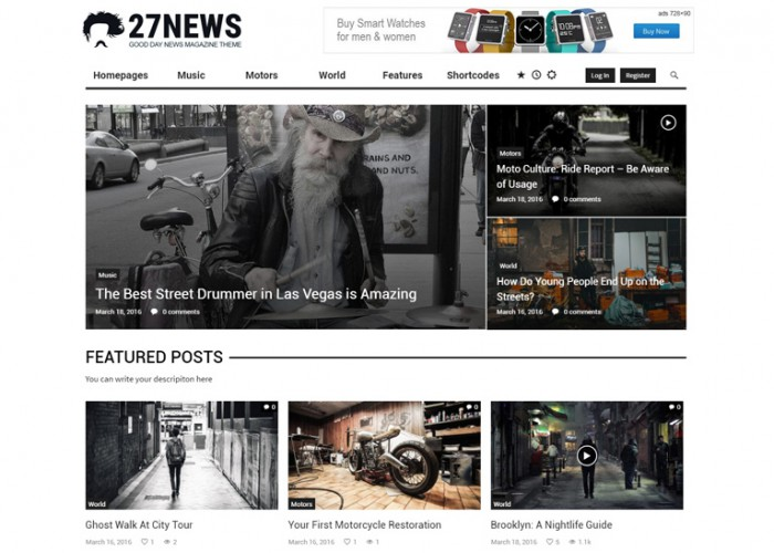 GDN – Premium Responsive Magazine Blog & Video WordPress Theme