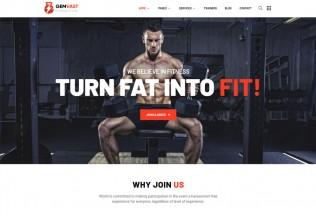 Gemvast – Premium Responsive Gym Fitness Club WordPress Theme