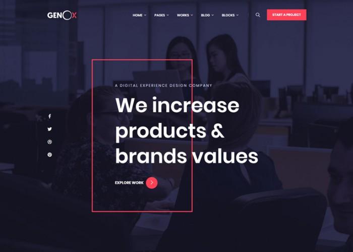 Genox – Premium Responsive Creative Agency HTML5 Template