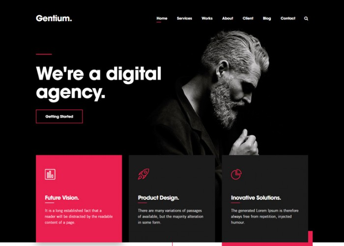 Gentium – Premium Responsive Digital Agency WordPress Theme