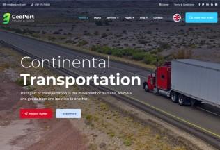 Geoport – Premium Responsive Transport & Logistics WordPress Theme