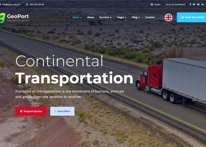 Geoport – Premium Responsive Transport & Logistics WordPress Theme