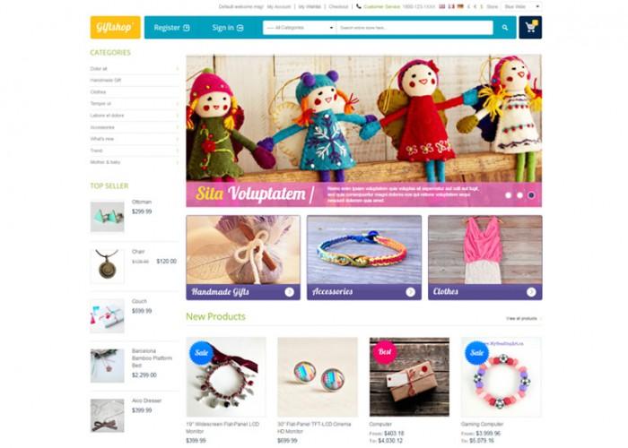 Gift Shop – Premium Responsive Magento Theme