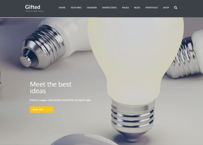 Gifted – Premium Responsive Multi-Purpose HTML5 Website Template