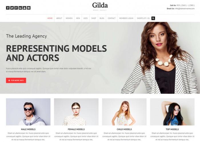 Gilda – Premium Responsive Fashion Model Agency WordPress Theme