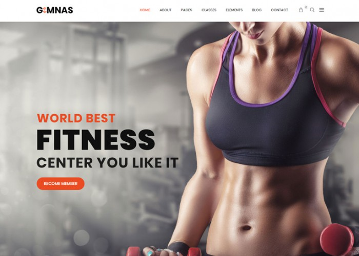 Gimnas – Premium Responsive Gym Fitness WordPress Theme