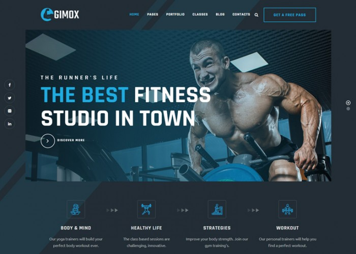 Gimox – Premium Responsive Gym and Fitness WordPress Theme