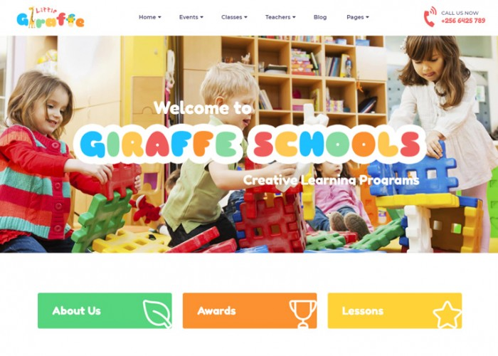Giraffe – Premium Responsive Kindergarten Education WordPress Theme