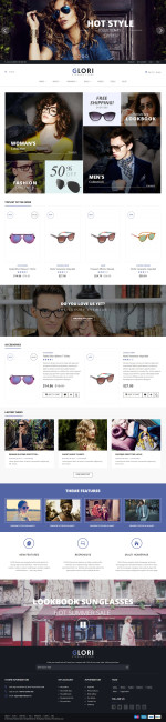 Best Responsive Glasses Store Prestashop Themes in 2015