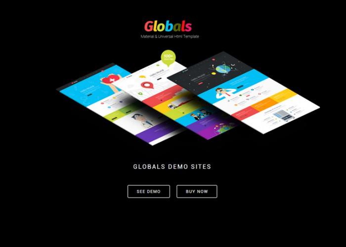 Globals – Premium Responsive Material & Bootstrap HTML5 Template